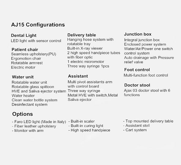 aj 15 configuration